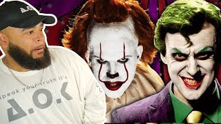 Who Won This One? The Joker vs Pennywise. Epic Rap Battles Of History - REACTION
