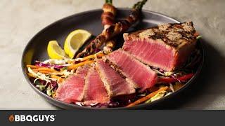 Seared Ahi Tuna Steak Recipe | BBQGuys Signature Kamado Grill & Griddle Insert