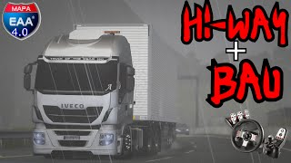 Euro Truck Simulator 2 - Iveco Hi-Way - Viagem na Chuva - Mapa EAA 4.0