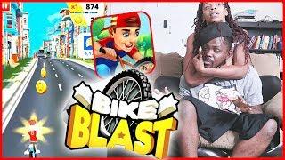 CRACKHEAD BIKE RIDER CAUSES A FIGHT! - Bike Blast Gameplay | Mobile Series Ep.30