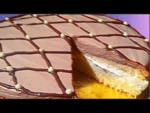 Торт птичье молоко Суфле из сливок на желатине