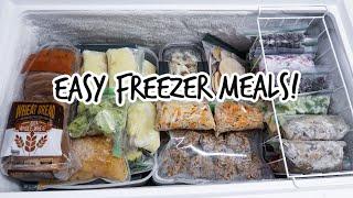 EASY Freezer Meal Recipes! Postpartum Prep   Fill Your Freezer!