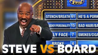 Steve Harvey MOCKED by the board!!! | Family Feud