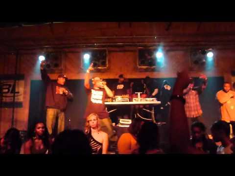 Blac I.C.E & Big Jay on stage @ The Ozone in Covington GA.... DJ Smooth & Swagg Team in da Buildin
