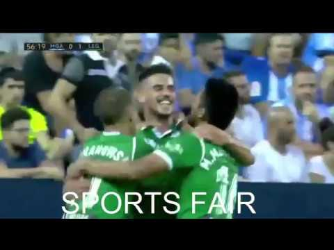 malaga vs leganés (0-2) spanish La liga] all goals, exdendent highlights 15 october 2017 SPORTS FAIR