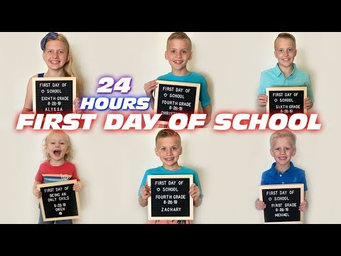 24 Hours with 6 Kids on the First Day of School!!