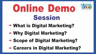 Online Demo Classes for Digital Classroom