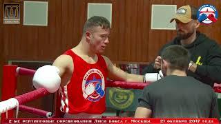 2-е рейтинговые бои Лига бокса г. Москвы – 21.10.17 г. до 81 кг.