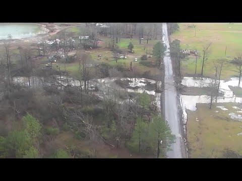 Download Drone footage: Tornado damage in Bossier Parish Mp4 HD Video and MP3