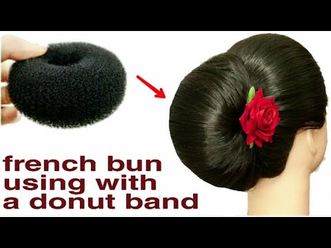 1 Minute NEW VERY EASY TRICKS FOR FRENCH ROLL WITH DONUT BUN || FRENCH BUN || FRNCH TWIST