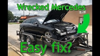 Rebuilding a wrecked mercedes cls550 part 1
