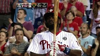 Tony Gwynn Jr. greeted by Phillies fans after his father's passing