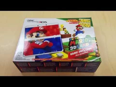 New 3ds Super Mario 3d Land Bundle Unboxing