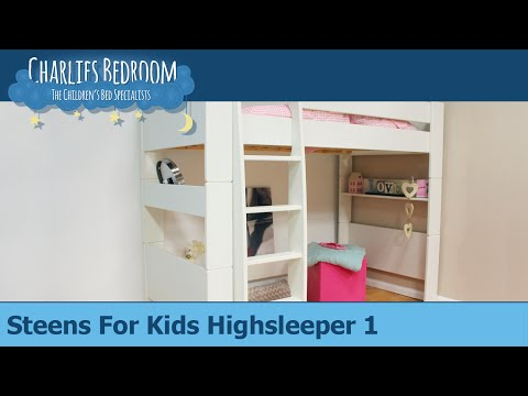 steens for kids hochbett mit leiter 614 50 preisvergleich ab 242 99. Black Bedroom Furniture Sets. Home Design Ideas