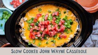 Slow Cooker John Wayne Casserole (with Tater Tots)
