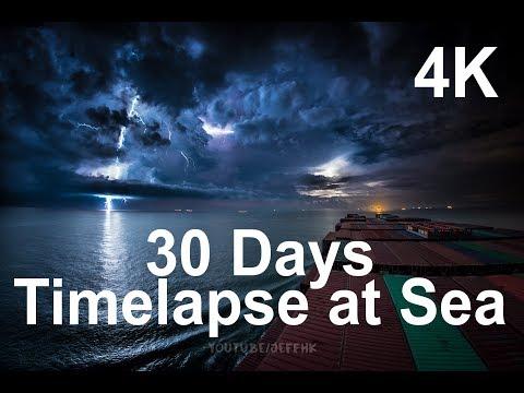30 días, el cielo visto desde la cubierta de un carguero.