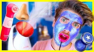 TRYING MORE GIRL PRODUCTS! PORE VACUUM & METALLIC MASK
