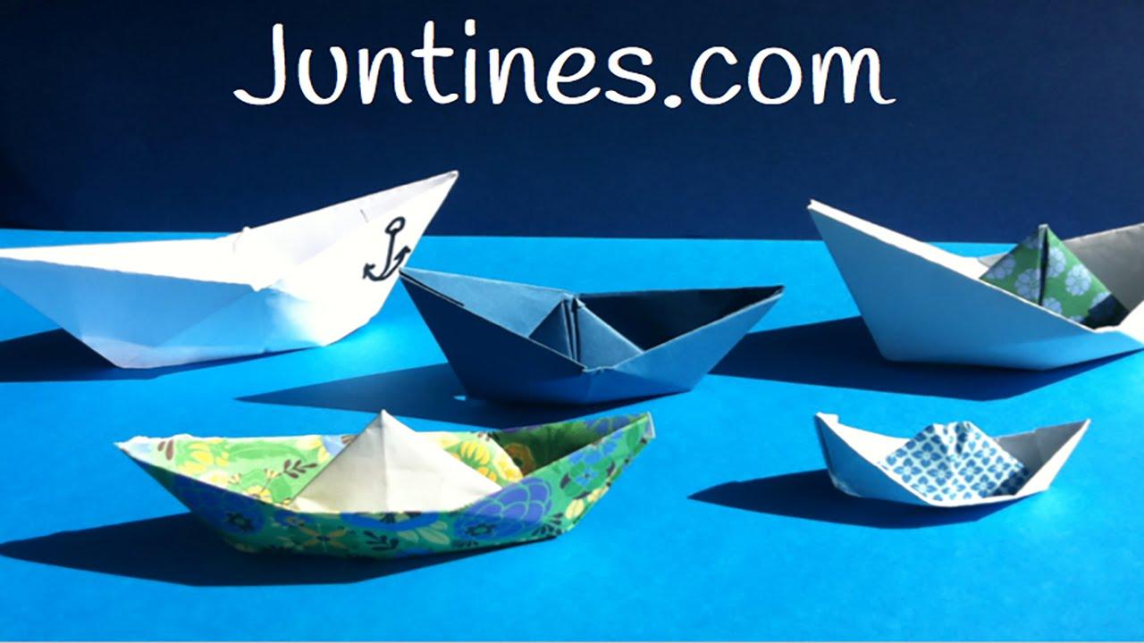 Barco de papel: origami fácil para niños