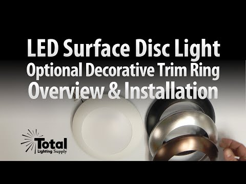 Sylvania Ultra LED Disc Light Trim Ring Overview & Install