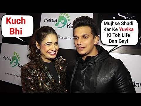 Prince Narula And Yuvika Chaudhary FUNNY Interview After Marriage