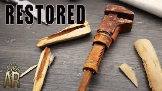 Antique monkey wrench restoration – Old hand tool restored