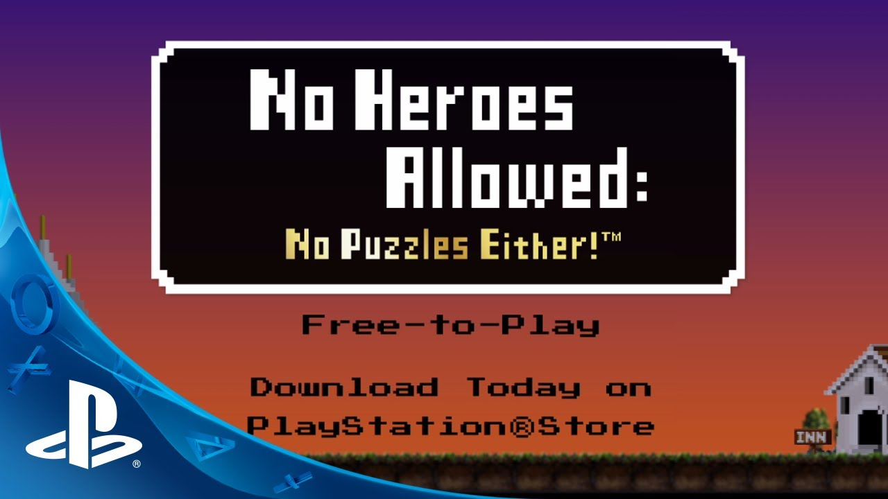 No Heroes Allowed: No Puzzles Either! Out Today on PS Vita