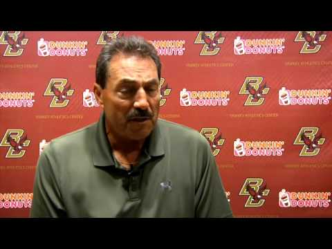 Coach Frank Spaziani Interview - Maine