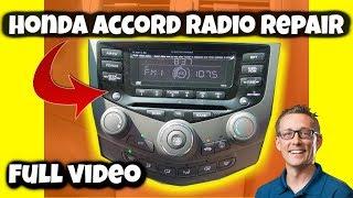 HONDA ACCORD RADIO REPAIR FULL VIDEO