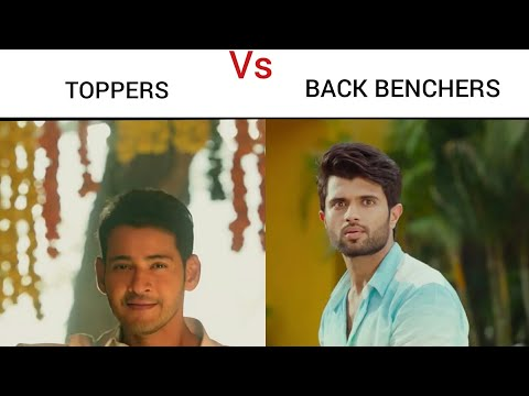 ||Toppers Vs Back Benchers Tollywood style || #1