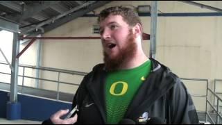 ALAMO BOWL:  Oregon Center Matt Hegarty Talks About Playing his Final Game
