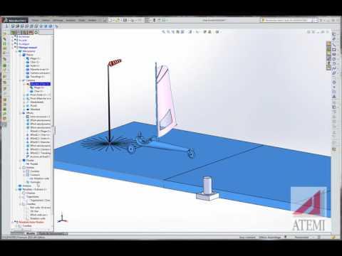 Meca3D : Char à voile – pilotage manuel
