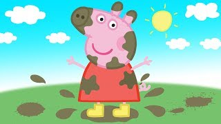 Peppa Pig Muddy Puddles Drawing And Coloring for Kids To Learn | #Peppa Pig English Episodes