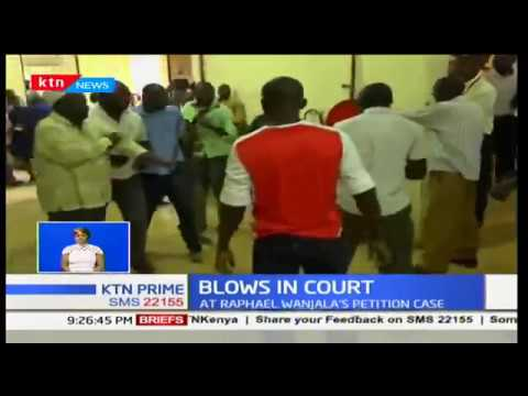 Blows in Court:Witness fights member of public at Raphael Wanjala's petition case