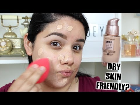 NEW Maybelline Dream Satin Liquid Foundation | Dry Skin Approved?