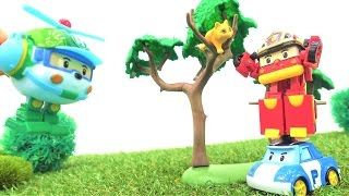 РОБОКАР ПОЛИ и спасатели. Видео и игрушки для детей про #машинки-трансформеры. СПАСЕНИЕ КОТЕНКА!