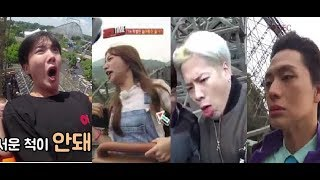 [EM-T] When Kpop idols in roller coaster (BTS,GOT7,EXID,BIGBANG,BTOB,TWICE...)