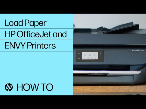 Loading Paper in the HP OfficeJet 5200 and ENVY 5000, 6200, 7100, 7800 Printer Series
