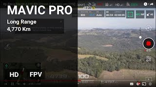 Long Range 4.770 Km (Drone DJI Mavic pro FPV)