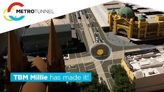 TBM Millie completes her journey at Town Hall Station