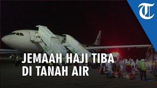 Jemaah Haji Kloter Pertama Embarkasi Banjarmasin Tiba di Bandara Syamsudin Noor