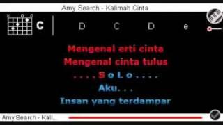Amy Search   Kalimah Cinta dgn Kord + Lirik