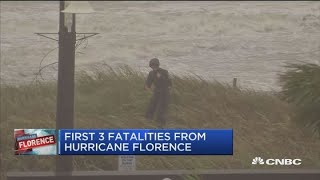 First three deaths from Hurricane Florence