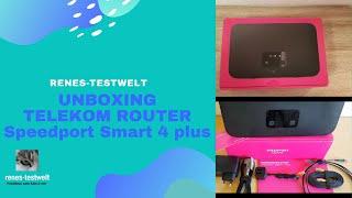 Unboxing - Neuer Telekom Router Speedport Smart 4 plus mit Glasfaseranschluss