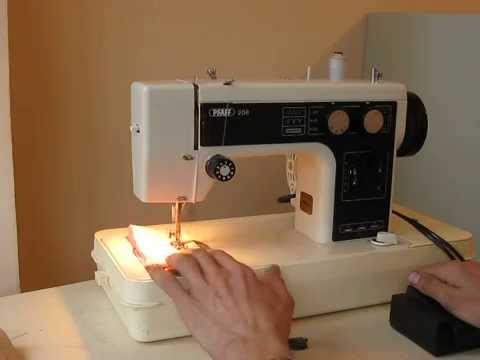 Nähmaschine Sewing machine Швейная машина Pfaff 208 test ХБ ткань, джинс, кожа