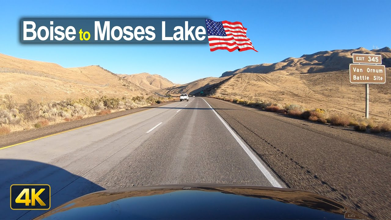 USA Road Trip – Boise ID to Moses Lake WA in 4K