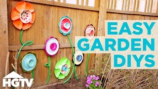 3 Upcycled DIY Garden Decorations | HGTV