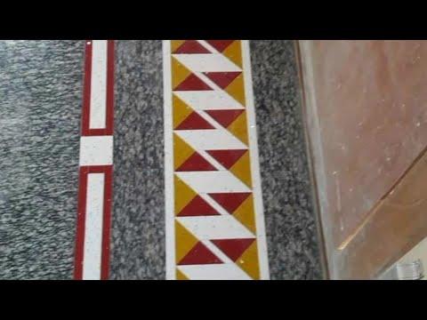 Marble flooring designs with door mat and bodar strip
