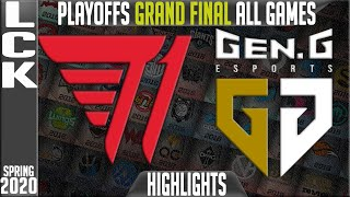 T1 vs GEN Highlights ALL GAMES | LCK Spring 2020 Playoffs GRAND FINAL | T1 vs Gen.G