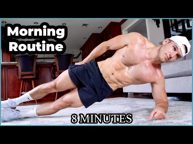 8 Minute MORNING Workout at Home | Sam Cushing