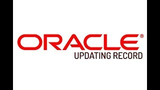 Oracle - SQL PLUS - Updating Record in Database